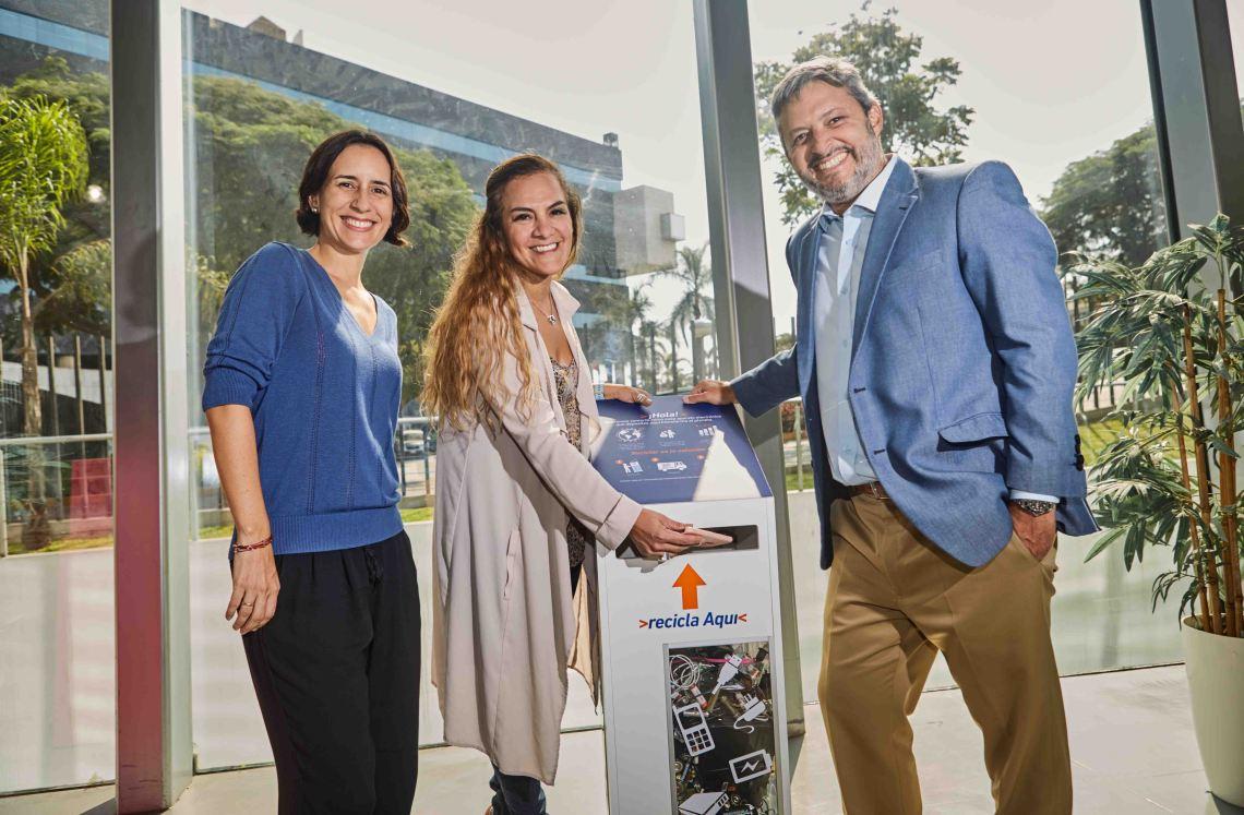 Banco de Crédito del Perú y Entel se unen por el reciclaje electrónico.jpg
