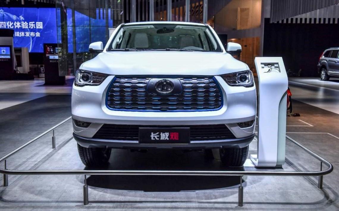 Great Wall_Interior de versión eléctrica de la camioneta comercial de la Serie P