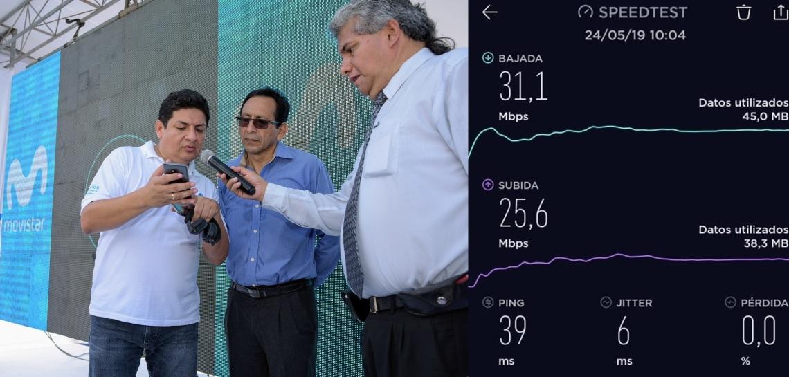Prueba de velocidad de internet móvil en Iquitos