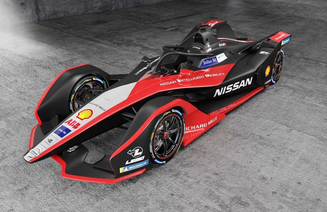 El auto de carreras de Fórmula E de Nissan tiene un nuevo aspec