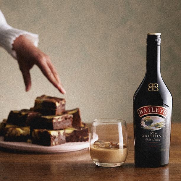Brownie con capa de Baileys (1)